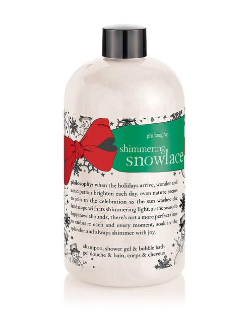 buy philosophy shimmering snowlace shampoo shower gel and bubble bath seph. Black Bedroom Furniture Sets. Home Design Ideas