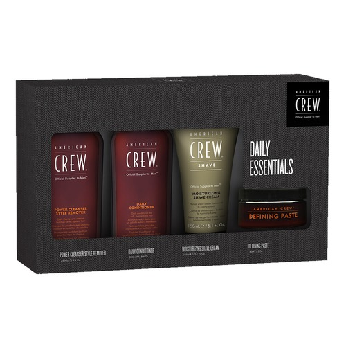 Closeup   quad set  power cleanser  daily conditioner  shave cream defining paste  web