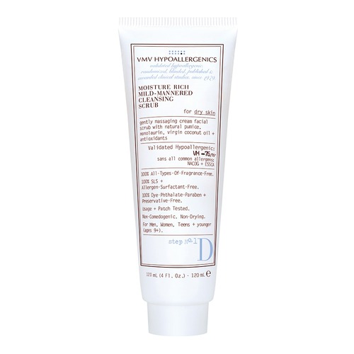 Closeup   moisture rich mild mannered cleansing scrub web