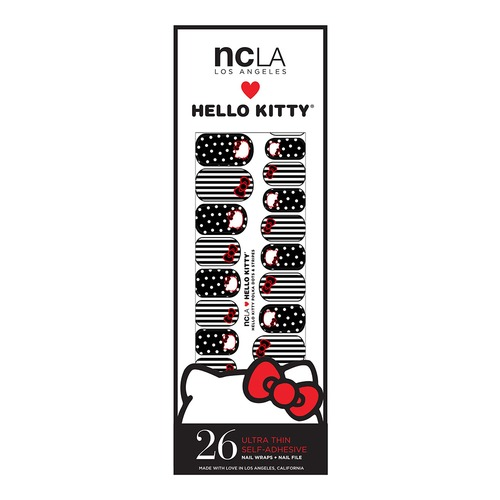 Closeup   hello kitty packaging polka dots stripes web