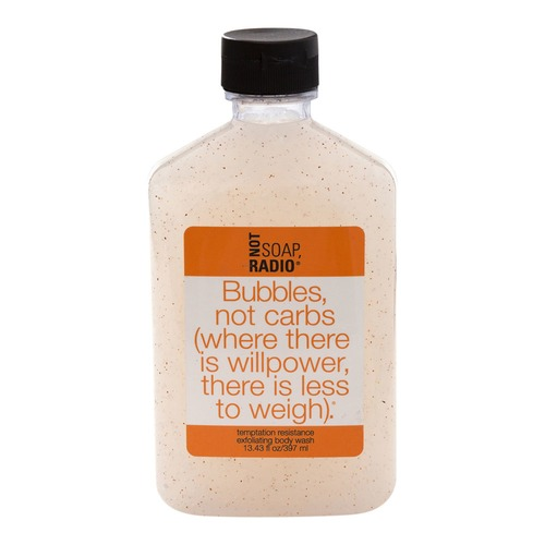 buy not soap radio bubbles not carbs exfoliating scrub 397ml sephora aust. Black Bedroom Furniture Sets. Home Design Ideas